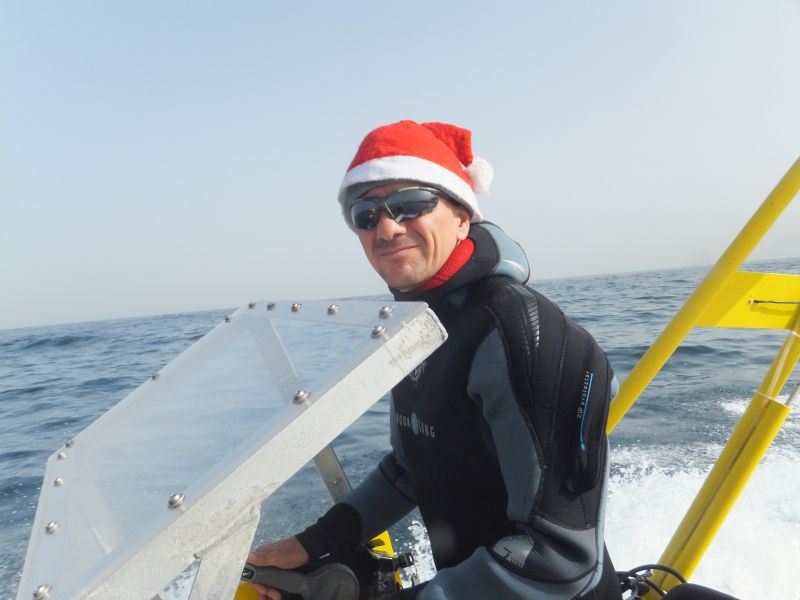 Scuba diving during chrismas season