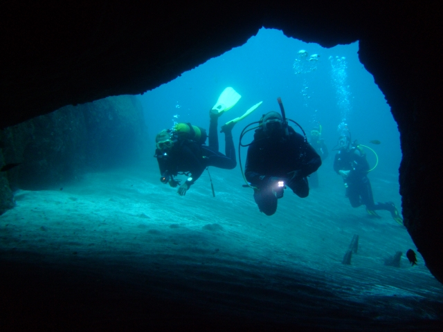 Cavern diving in Tenerife