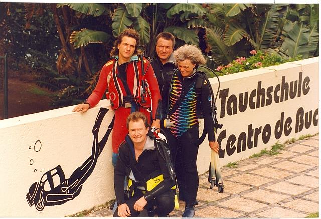Familie Christoph bei der Gründung der Tauchschule ATLANTIK vor 20 Jahren